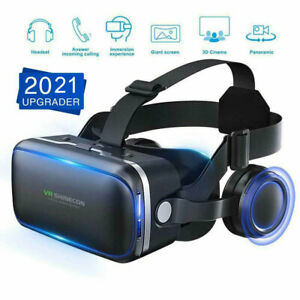 3D VR Headset Glasses 360° Goggles Virtual Reality Mobile Phone & Remote Control