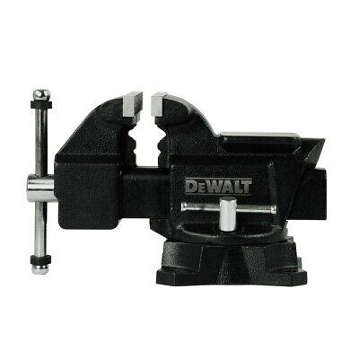 DEWALT 4.5 in. Heavy Duty Workshop Bench Vise with Swivel Ba