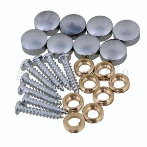 8 x Copper Silver Screws 10mm Mirror Cap Nails Decoration Nail 10mm Dia