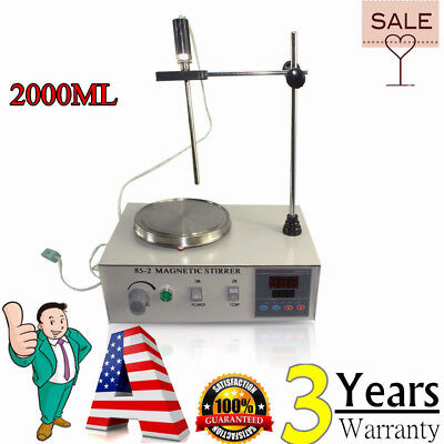 85-2 Hot Plate Magnetic Stirrer Mixer Stirring Laboratory 2000ml 110v Usa
