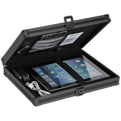 locking storage clipboard, 2.15 x 12.75 x 9.75 in., tactical black | vaultz key