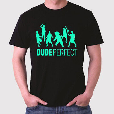 New Dude Perfect Famous Vlogger Logo Mens Black T Shirt Size S To 3Xl
