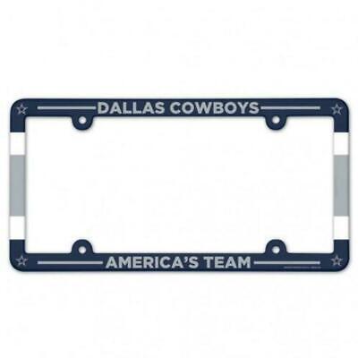 DALLAS COWBOYS COLOR CAR AUTO PLASTIC LICENSE PLATE TAG FRAME NFL FOOTBALL - Plastic Football