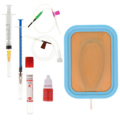 Venipuncture IV Injection Training Pad Silicone Human Skin Suture Training Model