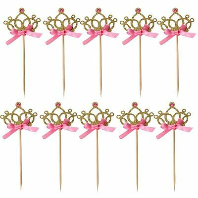 Cake Topper Cupcake Crown Tiara Birthday Decoration Party Supplies Wedding - Tiara Cupcake Toppers
