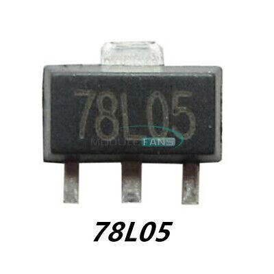 100pcs 78l05 L78l05 7805 5v 100ma Voltage Regulator Sot-89 Smd