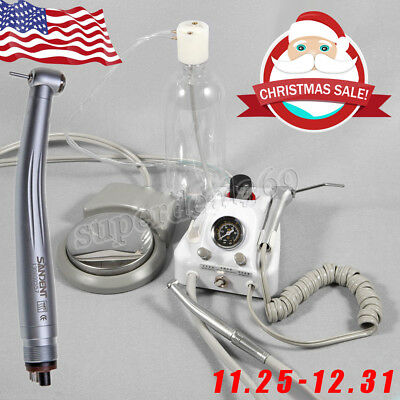 Portable Dental Turbine Unit Work W Air Compressor 1high Speed Handpiece 4-h