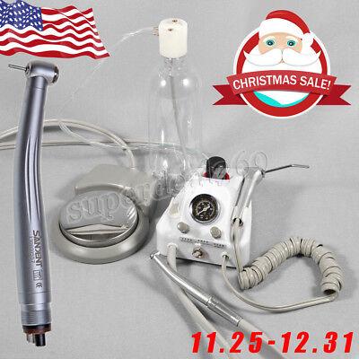 Portable Dental Turbine Unit Work w/ Air Compressor + 1*High Speed Handpiece 4-H