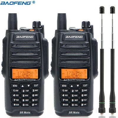 2x Baofeng UV-9R Mate 10W VHF UHF Walkie Talkie Dual Band Handheld Two Way Radio