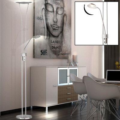 LED Decken-Fluter Stand-Lampe Boden Lese Steh-Leuchte verstellbar Dimmer WOFI