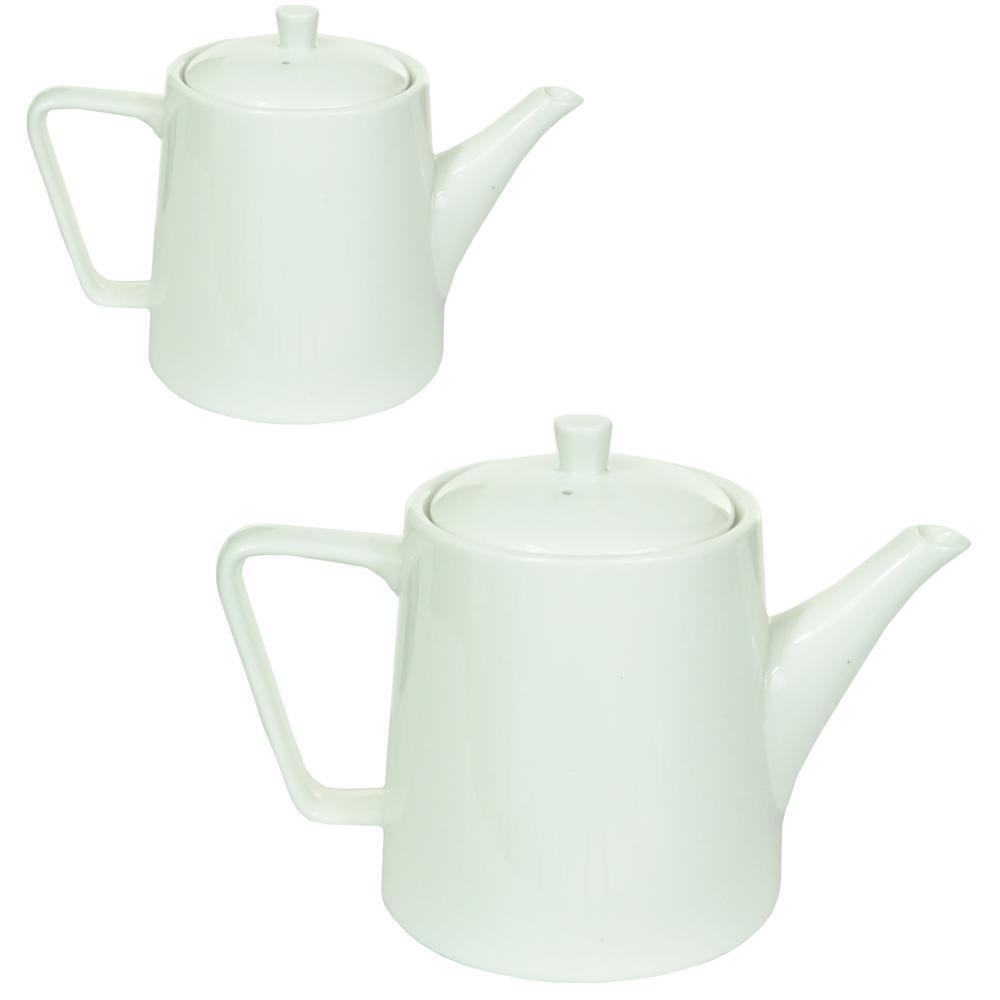 3 Cup // 600ml Judge Essentials White Porcelain Traditional Tea Serving Teapot Pot 3 Cup // 600ml