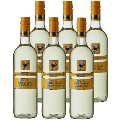 6 Flaschen Game of Africa Chenin Blan/Chardonnay 75cl 13% vol Weißwein Südafrika