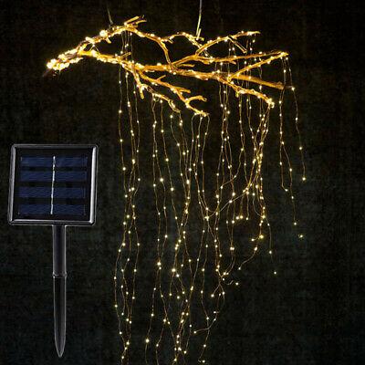 Energía Solar Alambre de Cobre Fairy Luces Navidad Cuerda Lámpara Jardín Fiesta