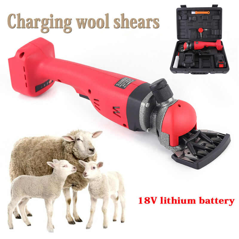 18V Battery Rechargeable Electric Sheep Goats Shearing Clipper Shears