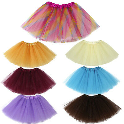 Baby Girls Kids Solid Tutu Ballet Dance Skirts Fancy Party Skirt Mini Dress Sale
