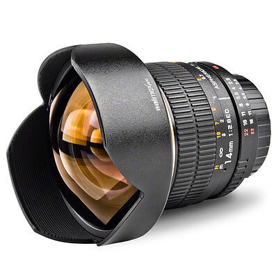Walimex 14mm 2,8 für Sony Alpha 550 560 580 700 850 900...