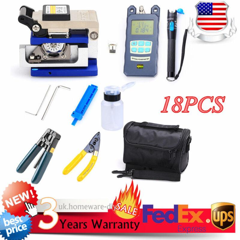 Portable Fiber Optic FTTH Tools Kits FC-6S Fiber Cleaver Optical Power Meter NEW