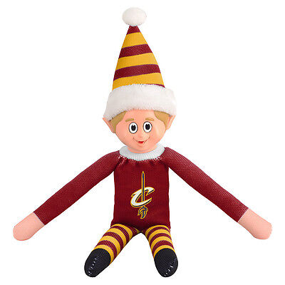 Cleveland Cavaliers Plush Christmas Elf - NBA Doll On The Shelf Stuffed Toy