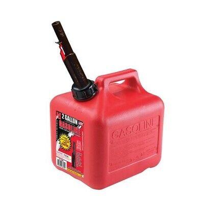 2 Gallon Gas Can Spout Fuel Jug Gasoline Plastic Container