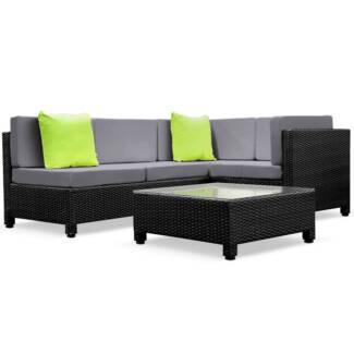 Outdoor Lounge 4 Seater Garden Furniture Wicker 5pcs Rattan Sof