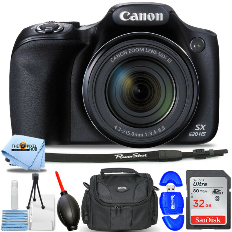 Canon PowerShot SX530 HS Digital Camera 9779B001 + 32GB + Case Bundle