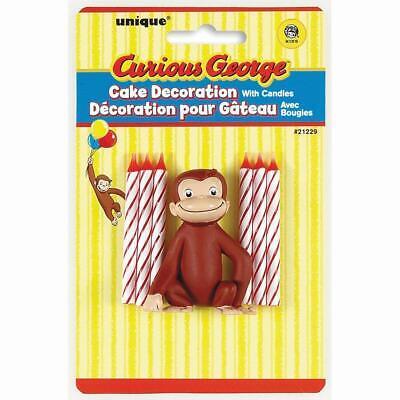 Curious George Cake Topper & Birthday Candle Set Curious George Cake Topper