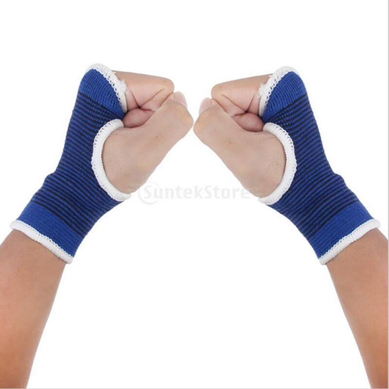 1 Pair Palm Wrist Hand Support Glove Elastic Brace Sleeve Sport Bandage Gym Wrap