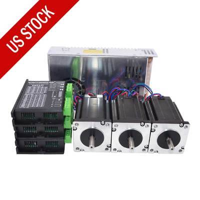 Us Ship 3 Axis Cnc Kit 439oz.in Nema 24 Stepper Motor Dm542t Driver Diy Cnc