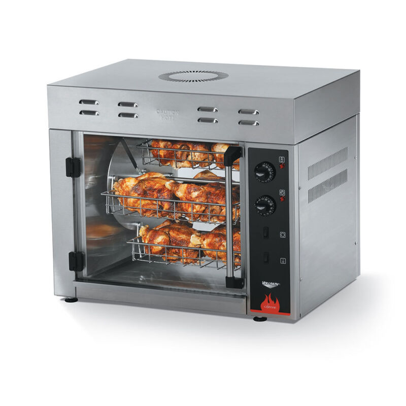 Vollrath 40841 Cayenne 15 Chicken Rotisserie Oven Electric Stainless 5000W