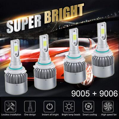 Chevrolet Halogen Bulb - 9006+9005 CREE LED Headlight 3000W 450000LM Hi-Lo Beam Combo Kit 6000K VS HID US
