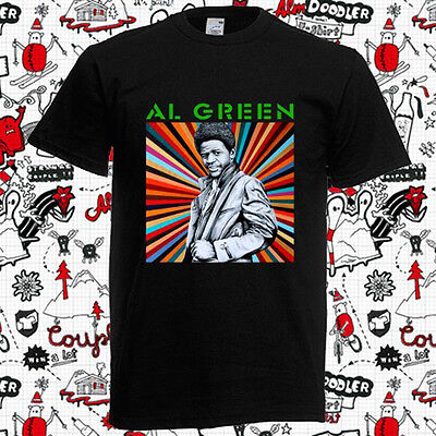 New Al Green American Singer Famous Musician Logo Mens Black T Shirt Size S 3Xl