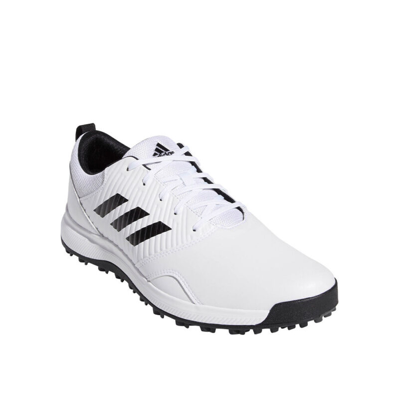 adidas CP Traxion Spikeless Golf Shoes - White/Black/Grey