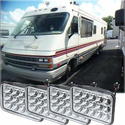 AIRSTREAM PINNACLE 4x LED HEADLIGHTS HEAD LIGHTS LAMPS Motorhome RV
