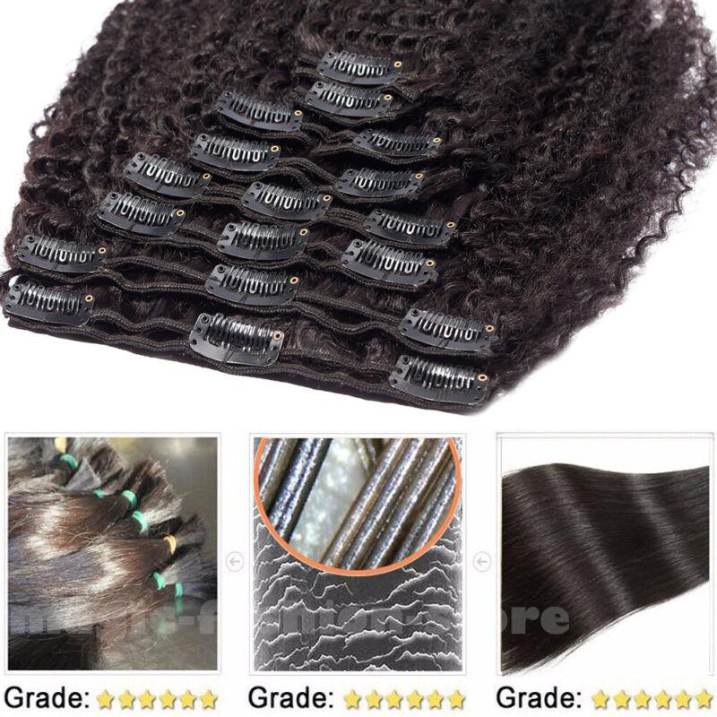 Afro In Virgin Human Hair Full Head 8PCS