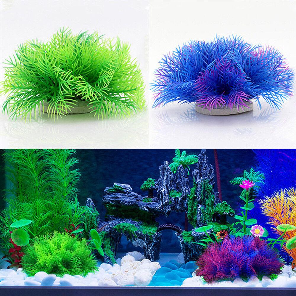Hot Artificial Aquarium Plastic Fake Water Grass Plant Home