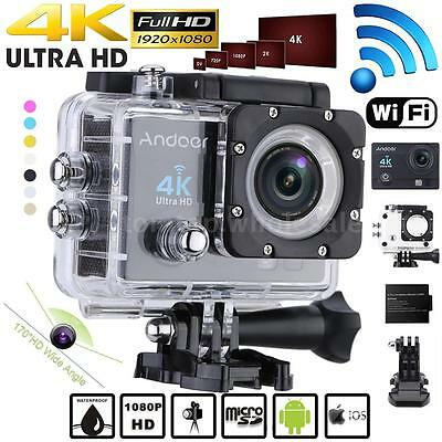 Andoer WiFi 4K Ultra-HD 1080P Waterproof Sport DV Action Camera Video Camcorder
