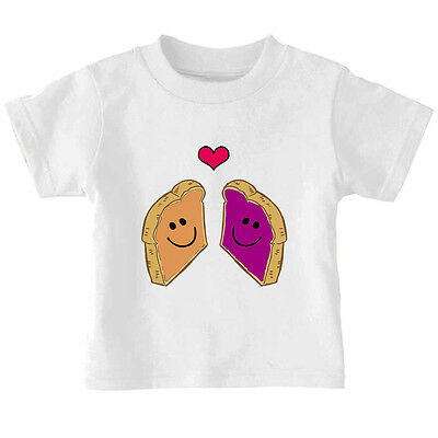 Peanut Butter And Jelly Kids (Peanut Butter And Jelly Toasts In Love Toddler Baby Kid T-shirt Tee 6mo Thru)