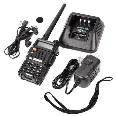 Baofeng BF-UV-5R VHF/UHF Dual Band FM Ham Two Way Radio Long Range Walkie-Talkie