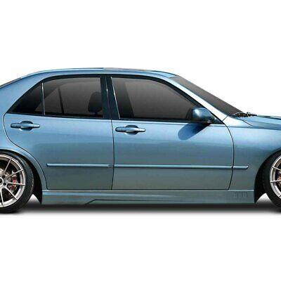 For Lexus IS300 01-05 H-Spec Style Fiberglass Side Skirt Rocker Panels Unpainted