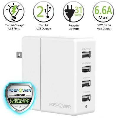 4 Harbour USB Rapid Fast Wall Travel Charger Hub for iPhone X 8 Plus 7 Galaxy Pixel