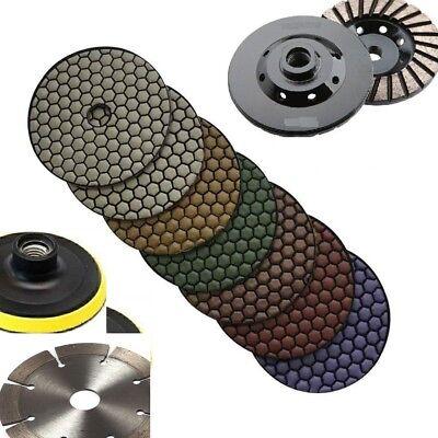 Diamond Polishing Pad 4 Inch Dry 71 Pcs Grinding Cup Wheel Blade Granite Stone