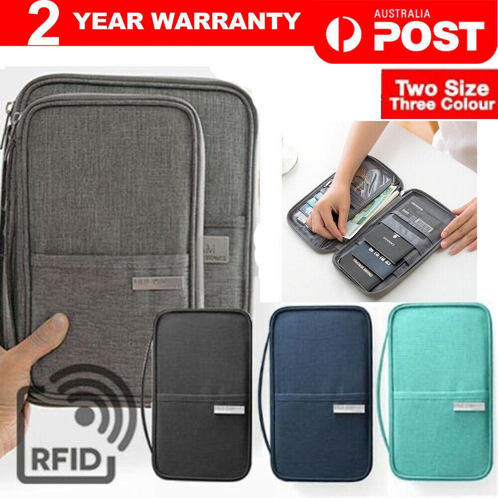RFID Document Organizer by FLYMEI Travel Wallet Passport Holder
