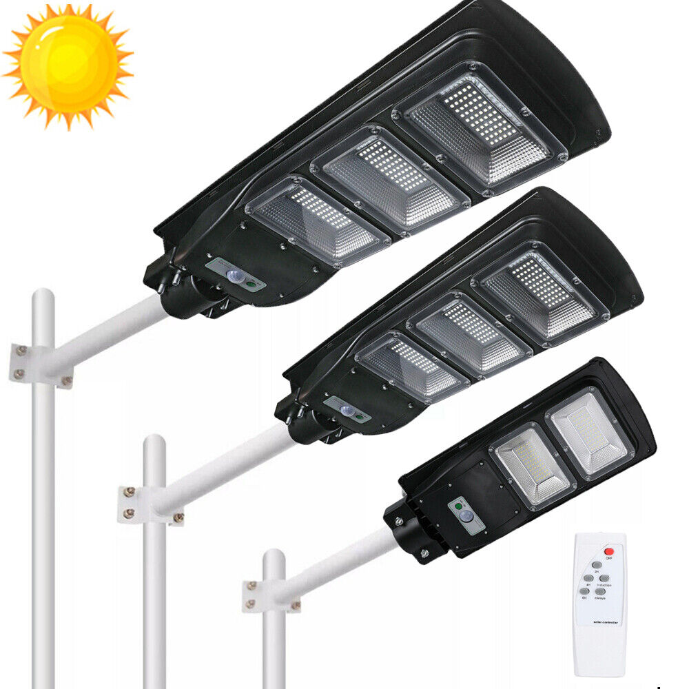 990000LM Solar LED Street Light Commercial Outdoor IP67 Area Security Road Lamp