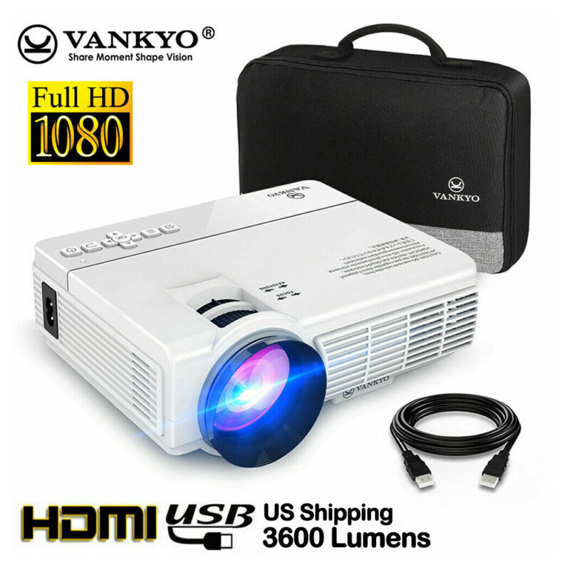 VANKYO LEISURE 3 1080P Projector FHD Video Movie Home Theater PS4 HDMI VGA TF AV