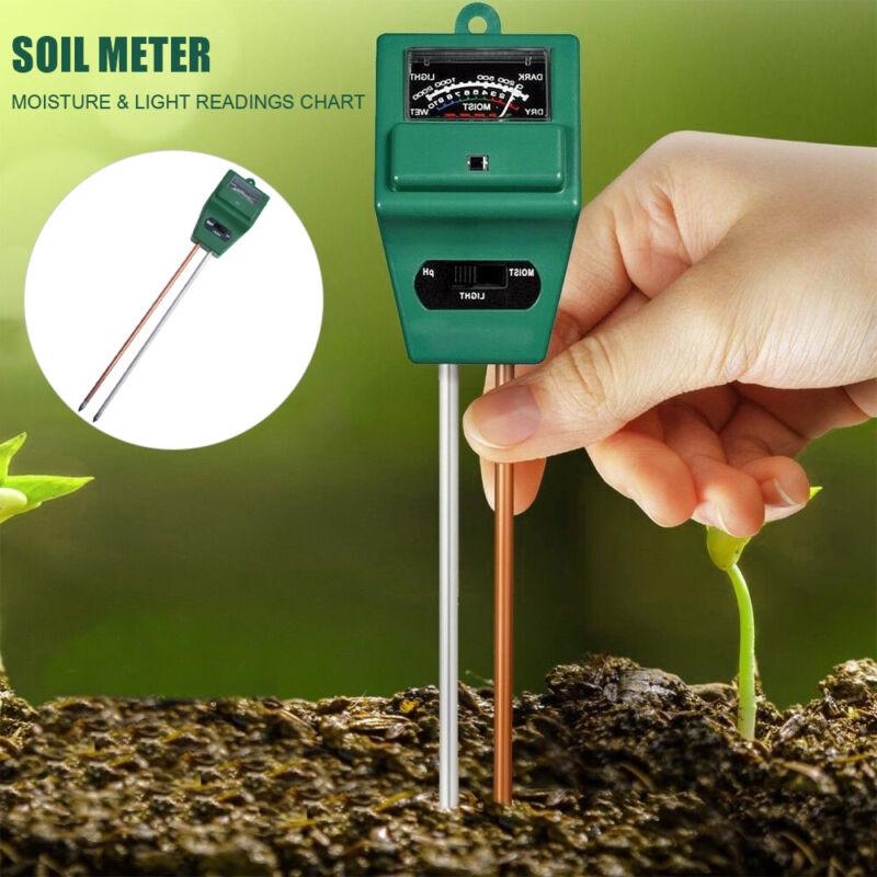 Garden Plant Flower 3 in 1 PH Tester Soil Water Moisture Lig