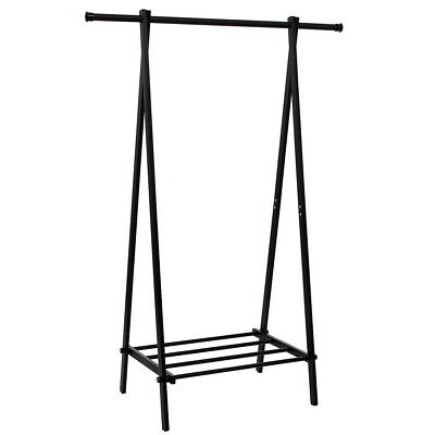 One-tier Garment Rack Metal Clothes Coat Shoe Storage Shelf Closet Organizers
