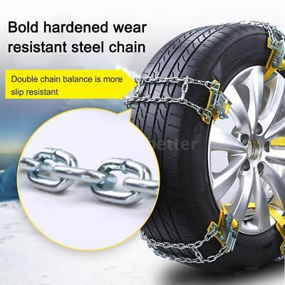 Vehicle Wheel Tire Snow Anti-skid Chains for Car Truck SUV Emergency Winter