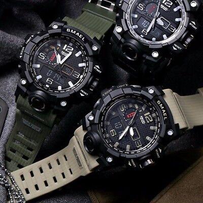 SMAEL SL1545 Waterproof Digital Analog Sports Watch for Mens Boys Military Alarm](Boys Military)