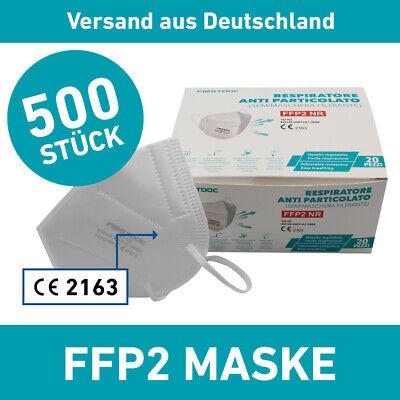 FFP2 500er Set Mundschutz Maske Firstdoc Mund Nasen Schutz Antiviral Virenschutz
