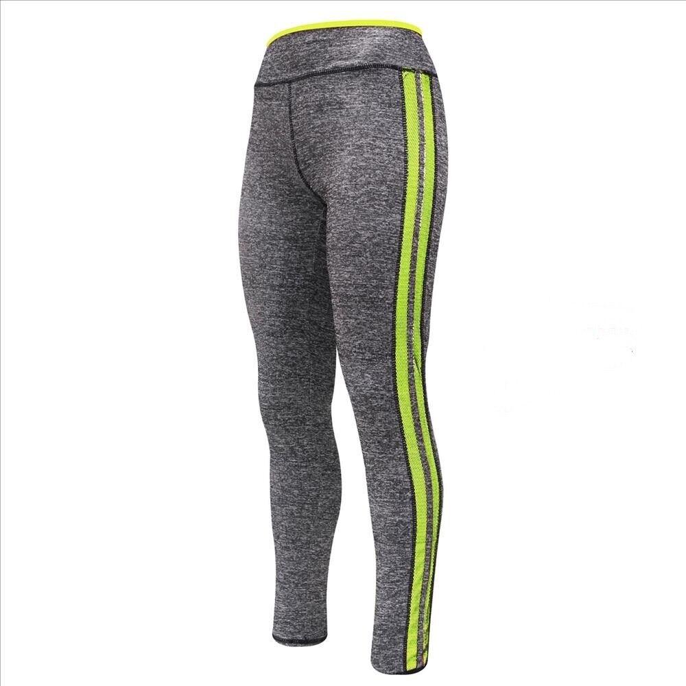 Leggings Damen Fitness Hose leichte Grau Sporthose orange pink gelb 38 40 42 44